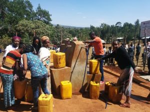 Slavnostní předání rehabilitovaného vodovodního systému v Etiopii