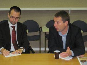 Setkání eurokomisaře pro rozvojovou spolupráci A. Piebalgse s ČRA a zástupci nevládních organizací