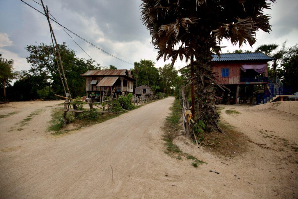Venkovská stavení v provincii Kampong Chhnang